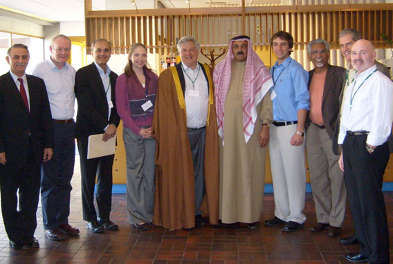 At the Helsinki talks, participants included, from left: Younadim Yousif Kana from Iraq; Martin McGuinness from Northern Ireland; Tufts Provost and Senior Vice President Jamshed Bharucha; Kelsi Stine, A10; Tufts trustee Robert Bendetson, A73; Sheikh Wisam Abed Ibrahim al-Hardani from Iraq; Joseph Emru, A08; Mac Maharaj, F09P, from South Africa; Roelf Meyer from South Africa; and Alex Maskey from Northern Ireland.